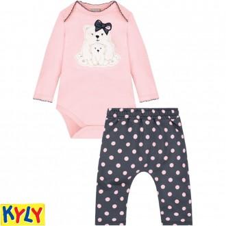 Conjunto Body Feminino Infantil Moletinho Kyly