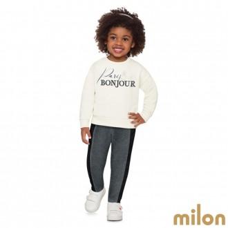 Imagem - Conjunto De Moletom Feminino Infantil Milon - 420910_0452-OFF WHITE