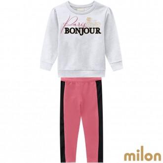 Conjunto De Moletom Feminino Infantil Milon