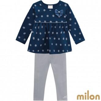 Conjunto Meia Malha Feminino Infantil Milon Kyly