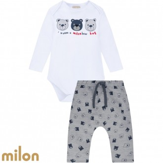 Conjunto Body Masculino Infantil Milon - Kyly