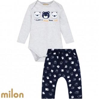 Imagem - Conjunto Body Masculino Infantil Milon - Kyly - 420920_0467-MESCLA WHITE