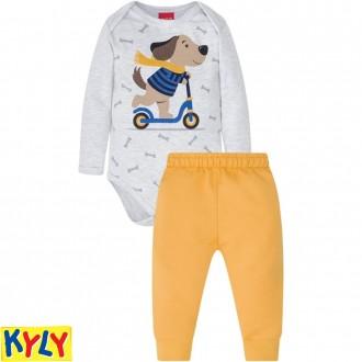 Imagem - Conjunto Body Masculino Infantil C/ Moletom Kyly - 1532177_0467-MESCLA WHITE