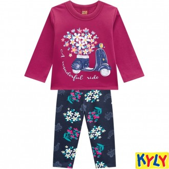 Conjunto Feminino Moletom Infantil Kyly