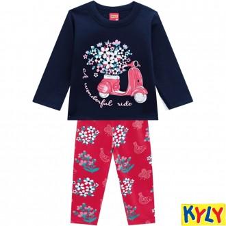 Imagem - Conjunto Feminino Moletom Infantil Kyly - 1532186_6826-AZUL MARINHO