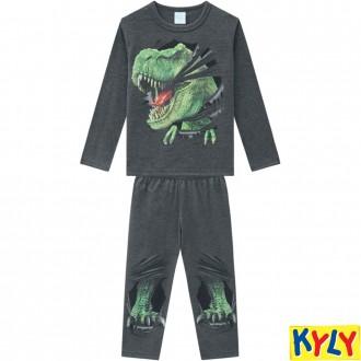 Conjunto Pijama Malha Masculino Infantil Kyly