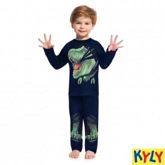 Imagem - Conjunto Pijama Malha Masculino Infantil Kyly - 1532195_6826-MARINHO