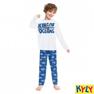 Conjunto Pijama Masculino Juvenil Brilha no Escuro Kyly