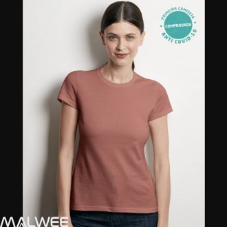 Imagem - Blusa Baby Look Anti  Covid  - Malwee - 1374669_00061-NUDE