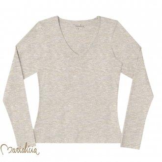 Imagem - Blusa básica de cotton - MARIALICIA - 478474_8021-MESCLA