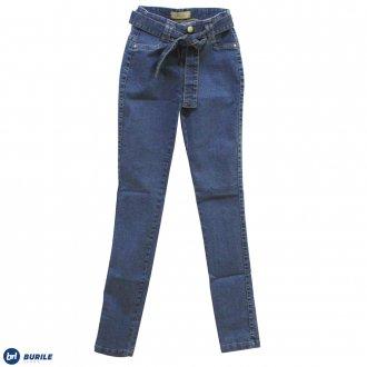 Imagem - Calça jeans com cinto - BURILE - 1410040_JEANS-JEANS