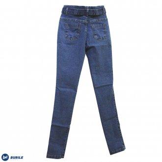 Calça jeans com cinto - BURILE
