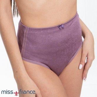 Calcinha em Tecido Gofrê Laterais Altas Miss France