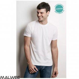 Imagem - Camiseta Anti Covid  Masculino Adulto - Malwee - 1374670_00001-BRANCO