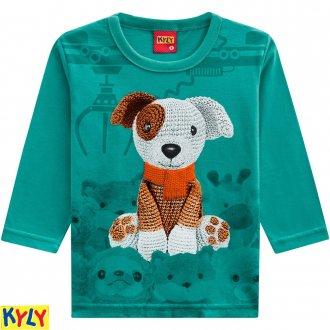Camiseta manga longa em meia malha - KYLY