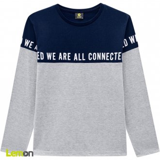Imagem - Camiseta manga longa - LEMON - 1031914_0020-MESCLA