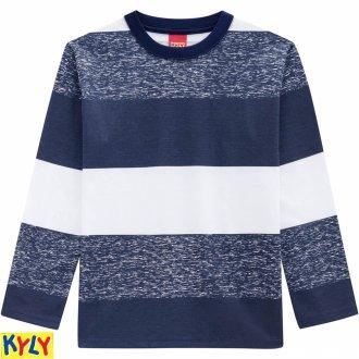 Imagem - Camiseta manga longa meia malha - KYLY - 1031847_6783-AZUL NOITE