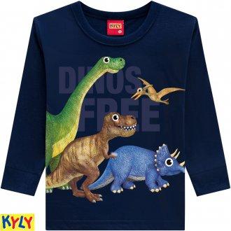 Imagem - Camiseta manga longa meia malha - KYLY - 1031881_6826-AZUL MARINHO