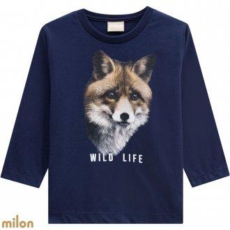 Imagem - Camiseta meia malha - MILON - 420863_6826-AZUL MARINHO