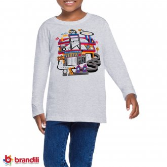 Imagem - Camiseta Meia Mallha Masculina Infantil Brandili - 931283_0605-MESCLA