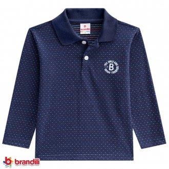Imagem - Camiseta Polo Masculina Infantil Malha Brandili - 931267_1623-MARINHO