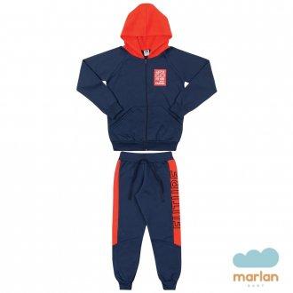 Imagem - Conjunto Masculino Infantil C/ Capuz Marlan - 494236_AZ0001-MAR.ESCURO