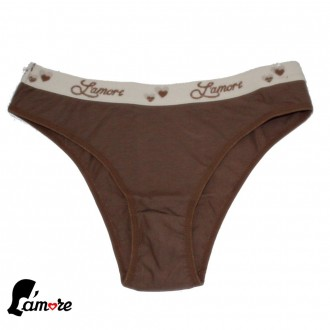 Imagem - Kit c/ 3 Tangas de Cotton Lamore - 47197_CASTANHO
