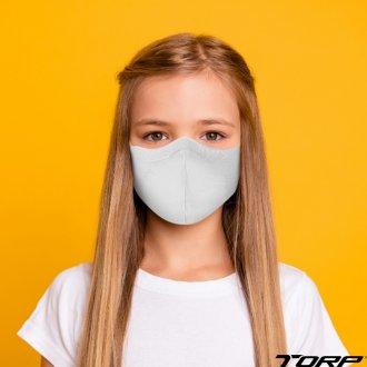 Imagem - Kit C/6 Máscaras Infantil Antiviral Virus BAC-OFF Torp - 360171_BRANCO-BRANCO