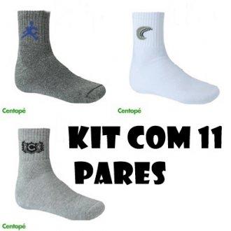Imagem - Kit com 11 pares de meias masculina - Centopé - 1704101_SOR-SORTIDO