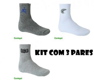 Imagem - Kit com 3 pares de meias masculina - Centopé - 1704095_SOR-SORTIDO
