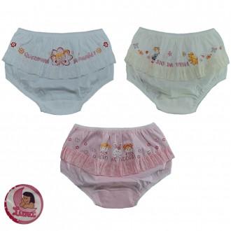 Imagem - Kit com 3 Calcinha Infantil Luna - 46950_SORTIDO
