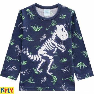 Imagem - Pijama meia malha dinossauro - KYLY - 1031898_6783-AZUL NOITE