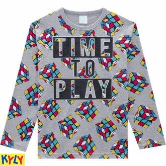 Imagem - Pijama meia malha - KYLY - 1031899_0020-MESCLA