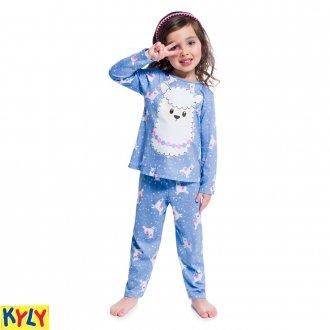 Imagem - Pijama meia malha - KYLY - 1031893_6839-AZUL NOSTALGIA