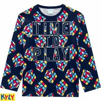 Imagem - Pijama meia malha - KYLY - 1031899_6826-AZUL MARINHO
