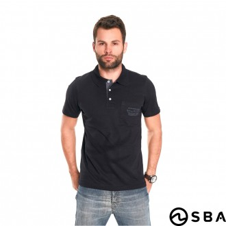 Imagem - Camiseta Polo Adulto Masculino World Blue - SBA - 388699_1-PRETO