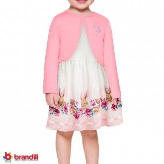 Imagem - Vestido Meia Malha e Bolero Brandili - 931258_2396-ROSA CLARO