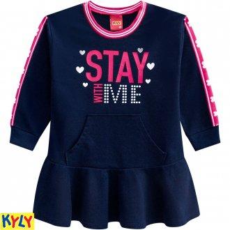 Vestido Moletinho Feminino Kyly