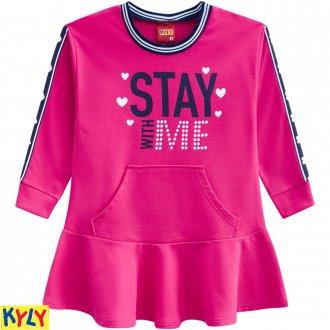 Imagem - Vestido Moletinho Feminino Kyly - 1031868_40064-ROSA CHOQUE
