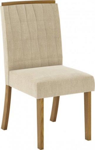 Conjunto 02 Cadeiras Henn Tauá Nature/Linho