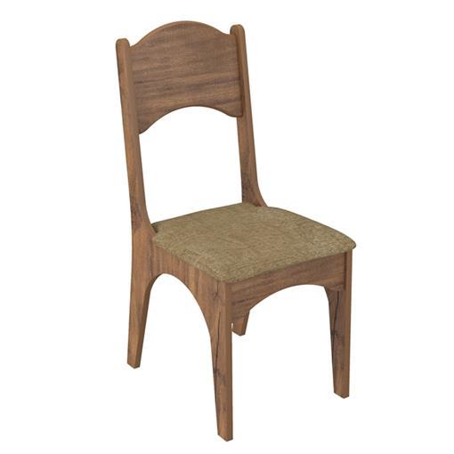 Cadeira Assento Estofado CA18 Dalla Costa Nobre com Chenille Marrom