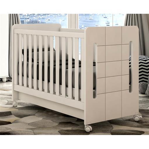 Berço Cama Plus Amor de Bebê Bambinello Branco Brilho