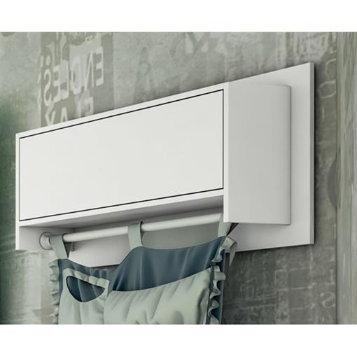 Prateleira Universal Plus 900 com Porta Cirandinha Bambinello Branco Brilho