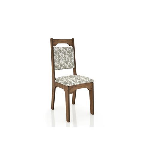 Cadeira Alta 18mm Assento Estofado CA29 Dalla Costa Nobre com Floral Claro