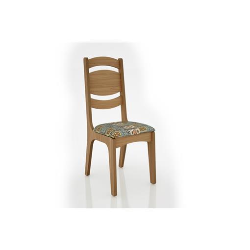 Cadeira Alta CA26 25mm Assento Estofado Dalla Costa Freijó/Ladrilho