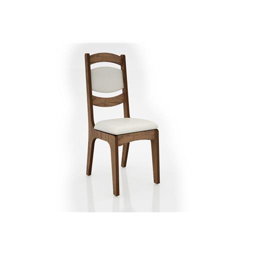 Cadeira Alta 25mm Assento e Encosto Estofado CA27 Dalla Costa Nobre com Linho Claro