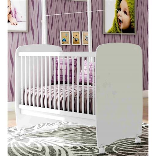Berço Bebê com Rodízio Sonequinha Light Bambinello Branco