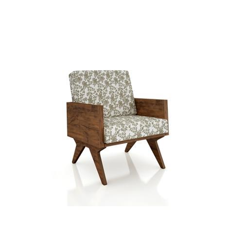 Poltrona Tamburato CA54 Assento e Encosto Estofado Dalla Costa Nobre/Floral Claro