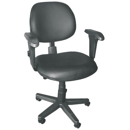 Cadeira Executiva Realme Giratória c/Multi Regulagem em Couro Ecológico Preto