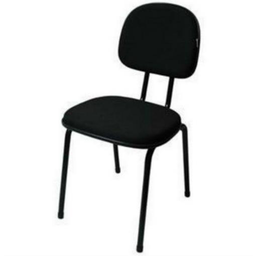 Cadeira Fixa Realme 4 Pés Tecido Preto